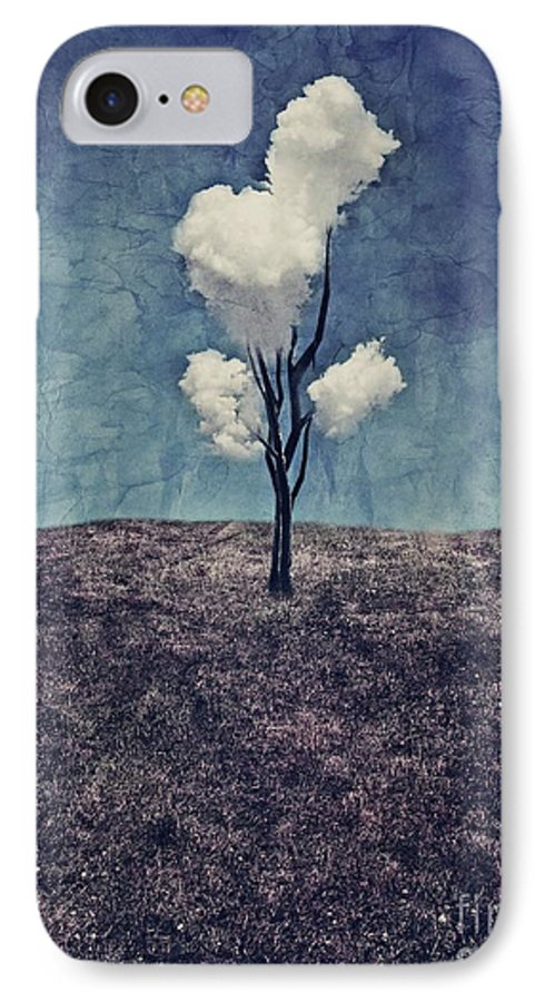 Tree IPhone 7 Case featuring the digital art Tree Clouds 01d2 by Aimelle
