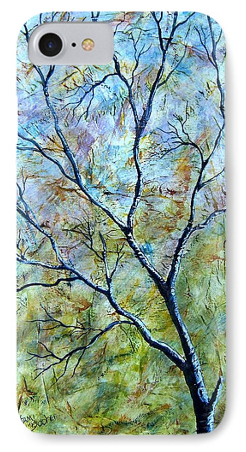 IPhone 7 Case featuring the painting Tree Number Two by Tami Booher