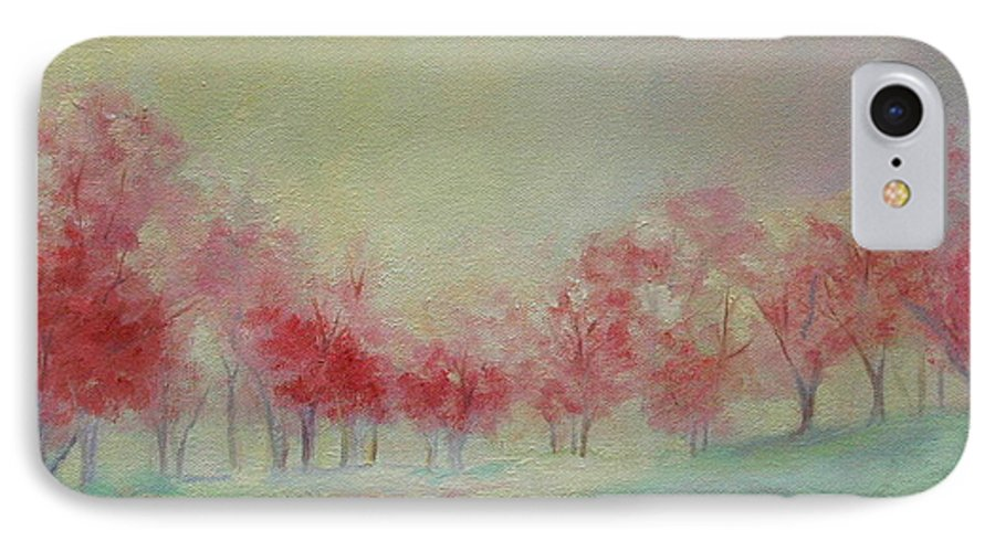Impressionist Trees IPhone 7 Case featuring the painting Treeline by Ginger Concepcion
