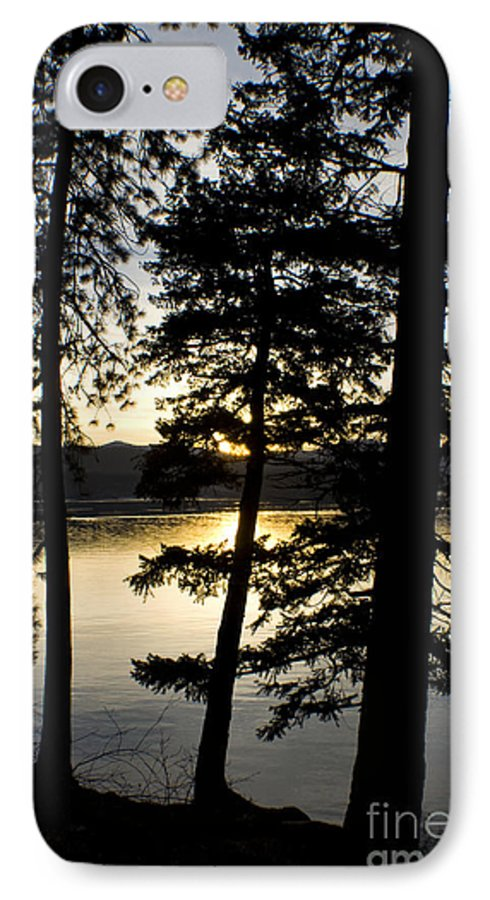Trees IPhone 7 Case featuring the photograph Trees By The Lake by Idaho Scenic Images Linda Lantzy