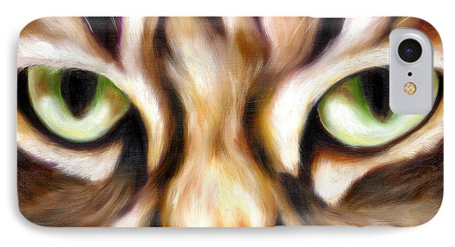 Cat IPhone 7 Case featuring the painting Trick Or Treat by Hiroko Sakai