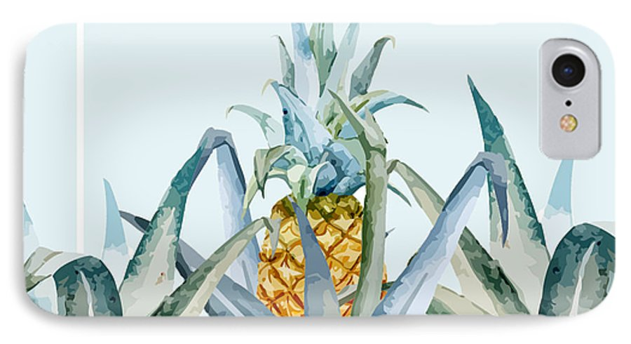 Summer IPhone 7 Case featuring the painting Tropical Feeling by Mark Ashkenazi