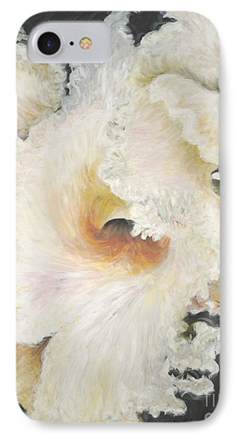 Flower IPhone 7 Case featuring the painting Tropical Flowers by Nadine Rippelmeyer