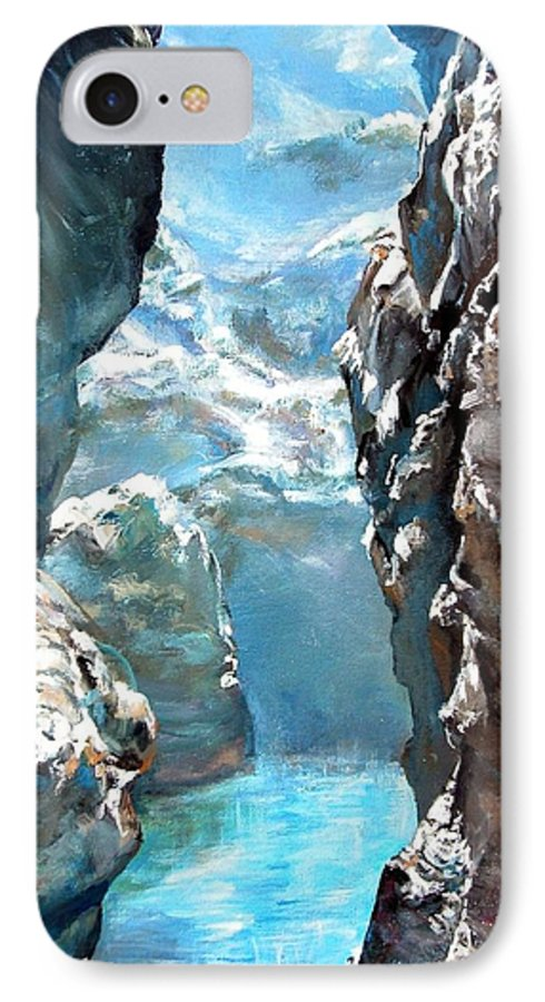 Landscape IPhone 7 Case featuring the painting Trouee 3 by Muriel Dolemieux