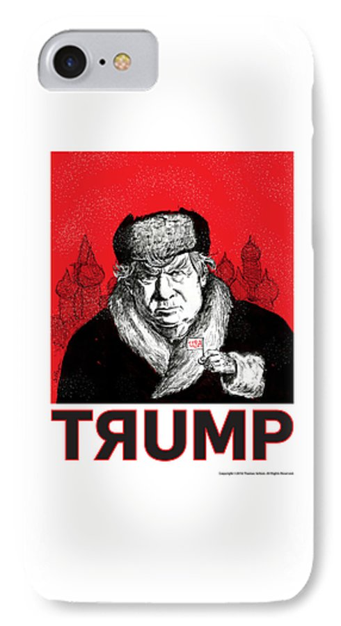 Politics IPhone 7 Case featuring the drawing Trumpski by Thomas Seltzer