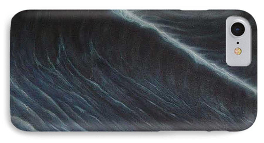 Seascapes IPhone 7 Case featuring the painting Tsunami by Angel Ortiz