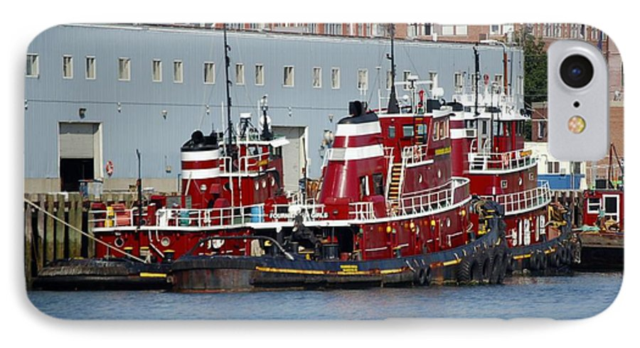 Tug IPhone 7 Case featuring the photograph Tugs At Rest by Faith Harron Boudreau
