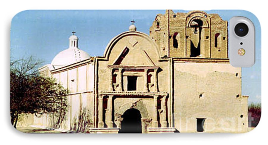 Mission IPhone 7 Case featuring the photograph Tumacacori by Kathy McClure