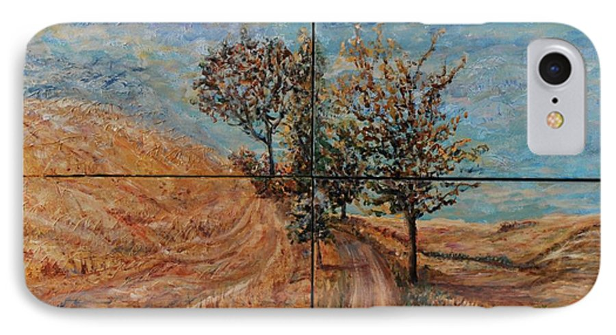 Landscape IPhone 7 Case featuring the painting Tuscan Journey by Nadine Rippelmeyer