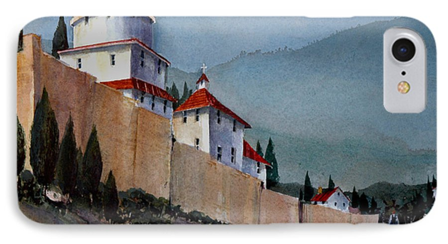 Tuscan IPhone 7 Case featuring the painting Tuscan Lane by Charles Rowland