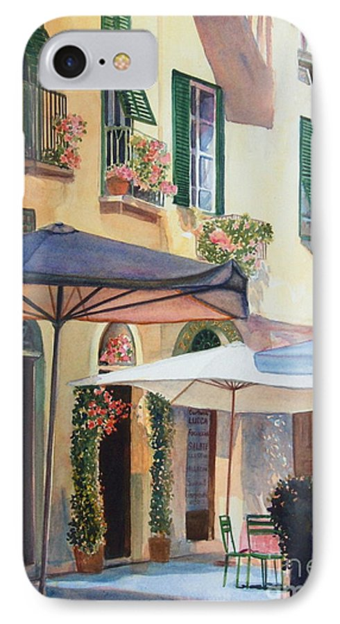 Tuscan IPhone 7 Case featuring the painting Tuscan Sunlight by Ann Cockerill