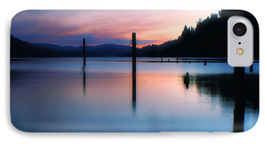 Dusk IPhone 7 Case featuring the photograph Twilight by Idaho Scenic Images Linda Lantzy
