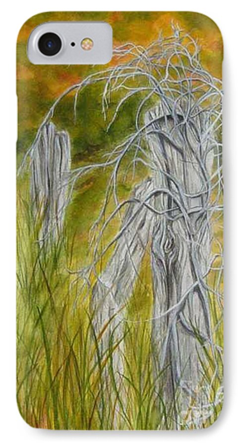 Landscape IPhone 7 Case featuring the painting Twisted by Regan J Smith