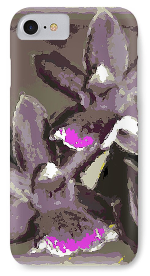 Orchid IPhone 7 Case featuring the photograph Two Orchids by Ann Tracy