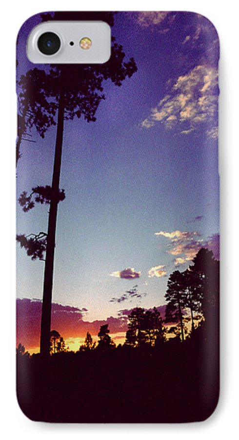 Arizona Sunset IPhone 7 Case featuring the photograph Two Pines Sunset by Randy Oberg