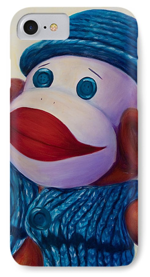 Children IPhone 7 Case featuring the painting Uncle Frank by Shannon Grissom