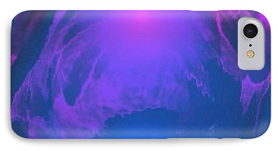 Water.underwater View.sun.colrs.blue.rose.grey.cold. IPhone 7 Case featuring the digital art Underwater Kingdom by Dr Loifer Vladimir