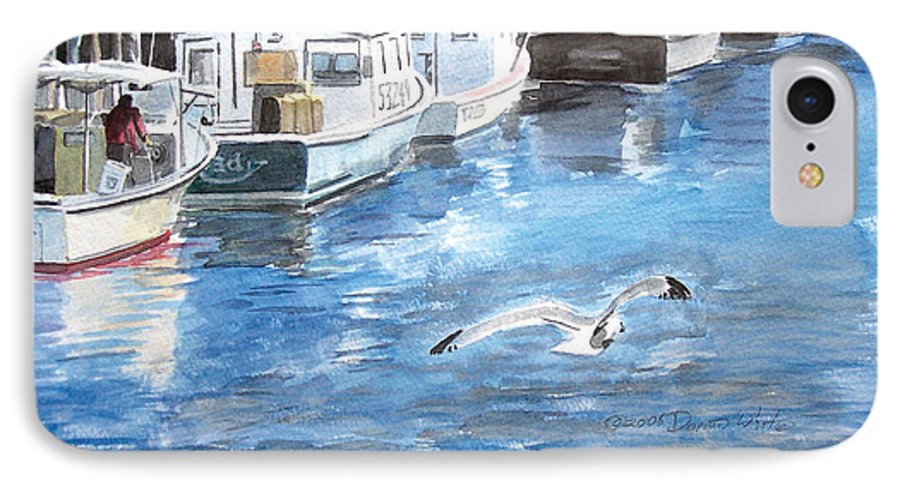 Seagull IPhone 7 Case featuring the painting Union Wharf by Dominic White
