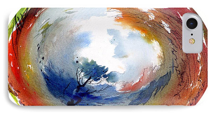 Landscape Water Color Watercolor Digital Mixed Media IPhone 7 Case featuring the painting Universe by Anil Nene