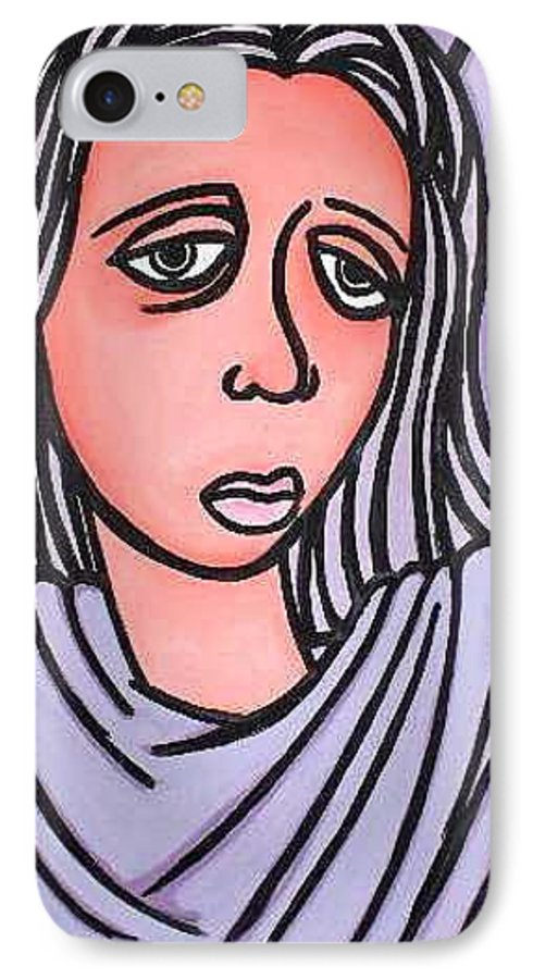 Portrait IPhone 7 Case featuring the painting Unknown by Thomas Valentine