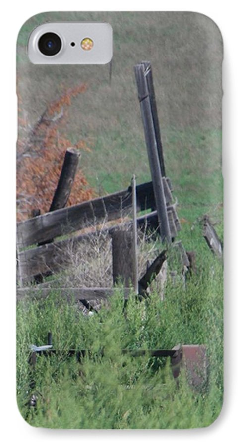 Farm IPhone 7 Case featuring the photograph Untended Fences by Margaret Fortunato