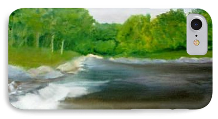 River IPhone 7 Case featuring the painting Untitled Plein Aire by Sheila Mashaw