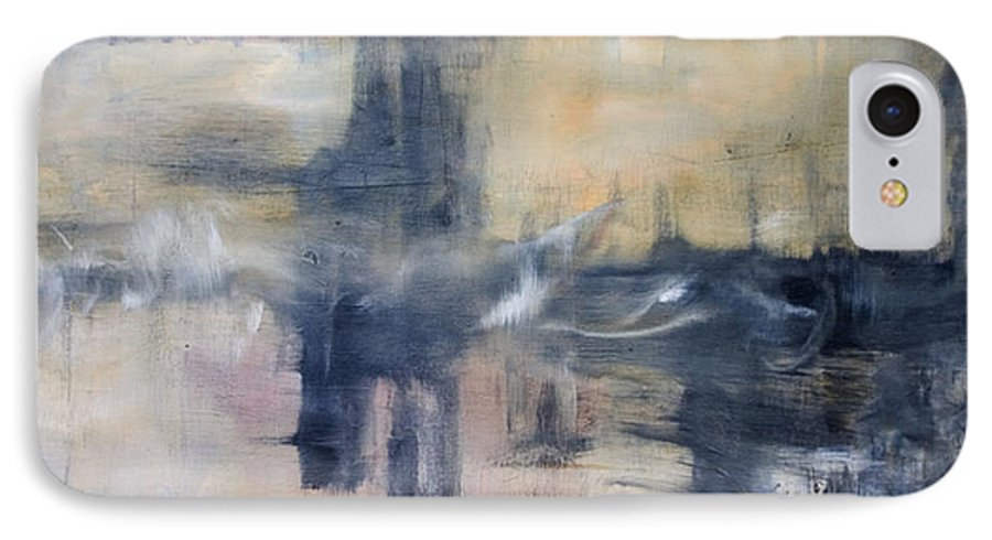 Cityscape IPhone 7 Case featuring the painting Untitled by Shawnequa Linder