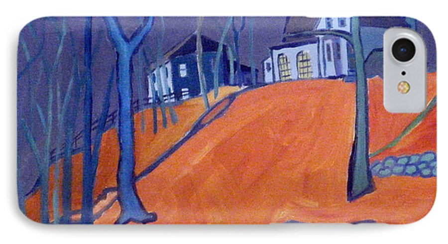 Houses On A Hill IPhone 7 Case featuring the painting Up Above Dunstable by Debra Bretton Robinson