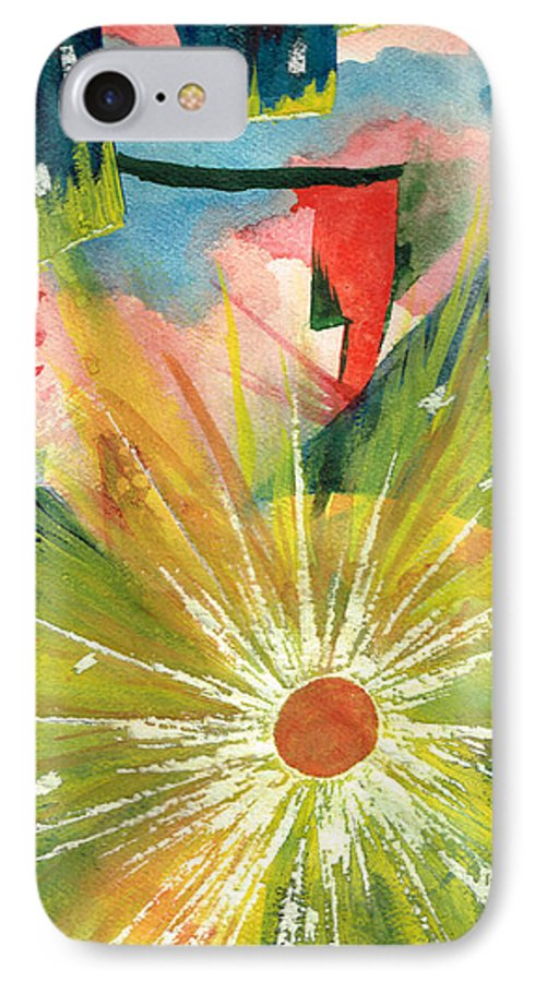 Downtown IPhone 7 Case featuring the painting Urban Sunburst by Andrew Gillette