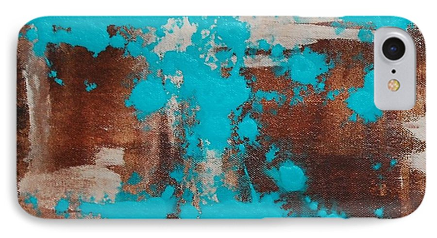 Diptech IPhone 7 Case featuring the painting Urbanesque I by Lauren Luna
