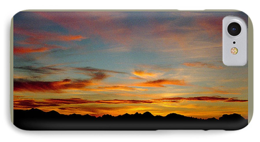 Arizona Sunset IPhone 7 Case featuring the photograph Usery Sunset by Randy Oberg