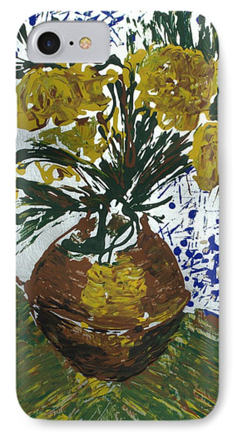 Flowers IPhone 7 Case featuring the painting Van Gogh by J R Seymour