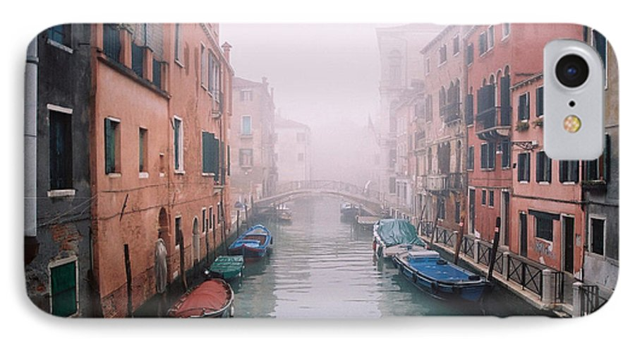 Venice IPhone 7 Case featuring the photograph Venice Canal I by Kathy Schumann