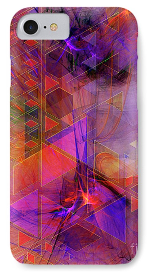 Vibrant Echoes IPhone 7 Case featuring the digital art Vibrant Echoes by John Beck