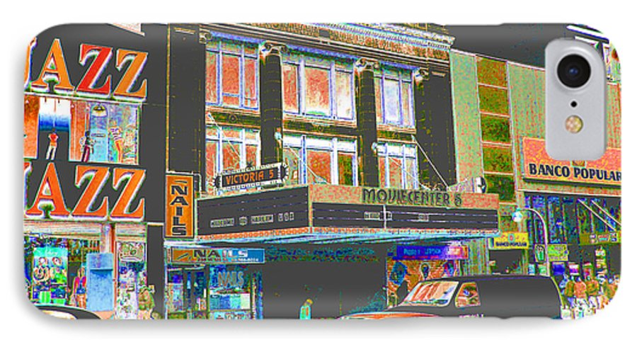 Harlem IPhone 7 Case featuring the photograph Victoria Theater 125th St Nyc by Steven Huszar