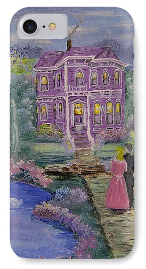 Victorian IPhone 7 Case featuring the painting Victorian Romance 1 by Quwatha Valentine