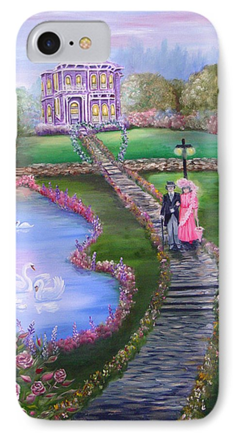Victorian IPhone 7 Case featuring the painting Victorian Romance 2 by Quwatha Valentine