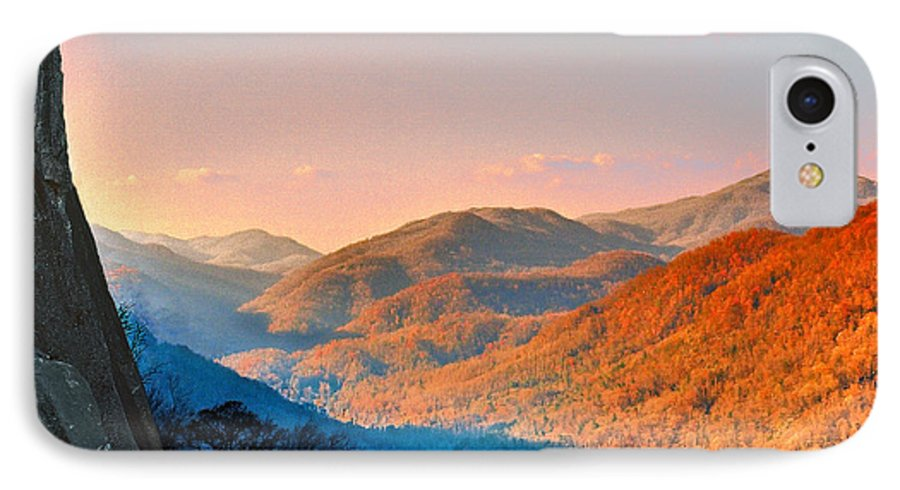 Landscape IPhone 7 Case featuring the photograph View From Chimney Rock-north Carolina by Steve Karol