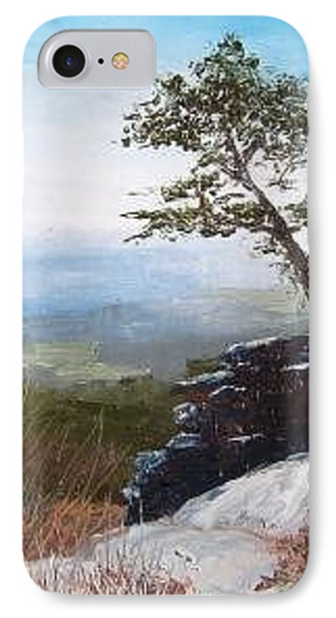 Landscape / Nature / Blue Ridge Mountains IPhone 7 Case featuring the painting View From Pilot Mountain by Tami Booher