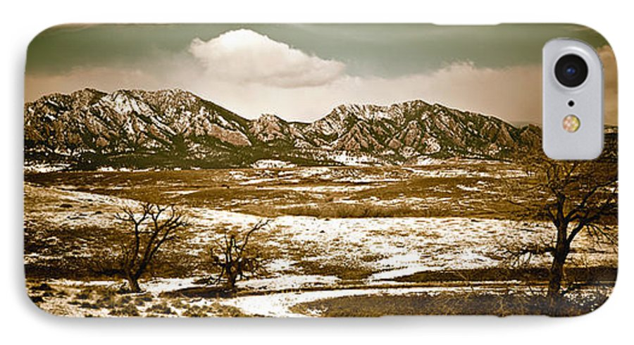 Landscape IPhone 7 Case featuring the photograph Flatironsview From Superior by Marilyn Hunt