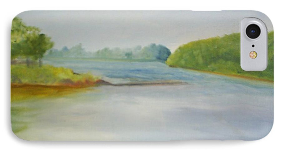 Delaware River IPhone 7 Case featuring the painting View Of The Delaware by Sheila Mashaw