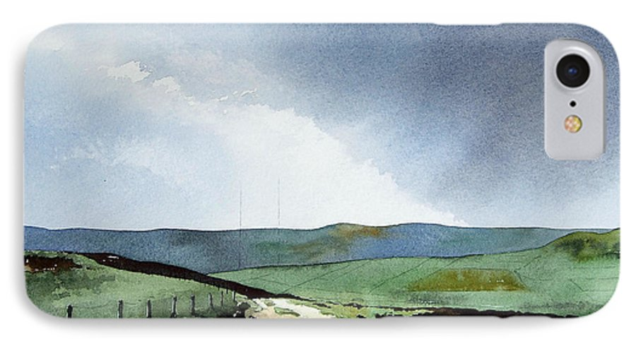 Landscape IPhone 7 Case featuring the painting View Over Pole Moor by Paul Dene Marlor