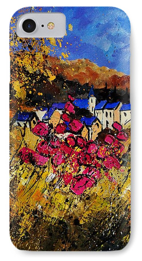 Flowers IPhone 7 Case featuring the painting Village 450808 by Pol Ledent
