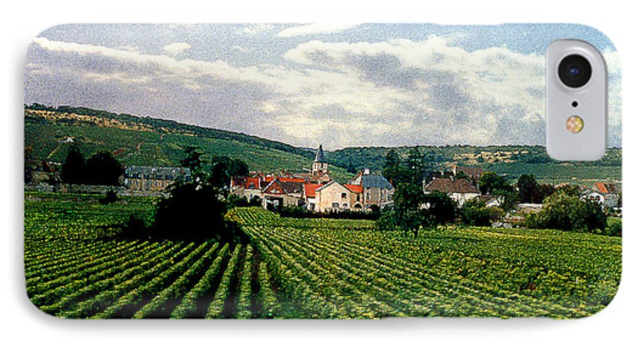 Vineyards IPhone 7 Case featuring the photograph Village In The Vineyards Of France by Nancy Mueller