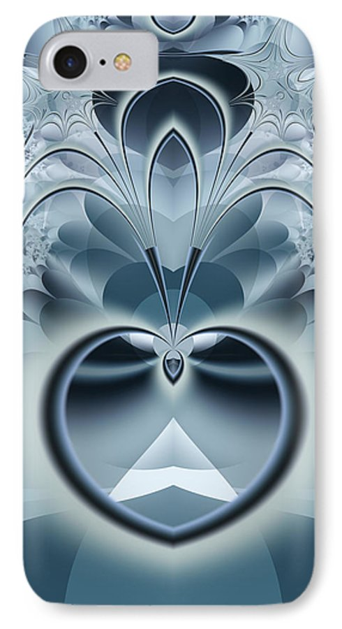 Fractal IPhone 7 Case featuring the digital art Vision by Frederic Durville