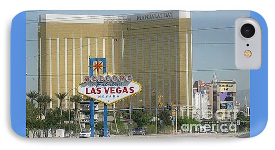 Vegas IPhone 7 Case featuring the photograph Viva Las Vegas by Barb Montanye Meseroll