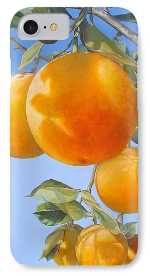 Floral Painting IPhone 7 Case featuring the painting Vol D by Muriel Dolemieux