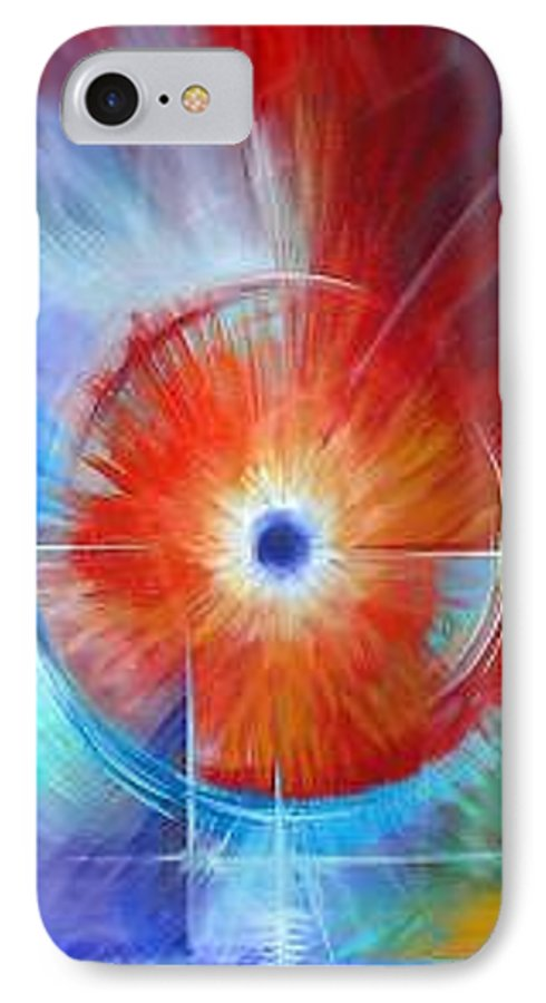 Clouds IPhone 7 Case featuring the painting Vortex by James Christopher Hill