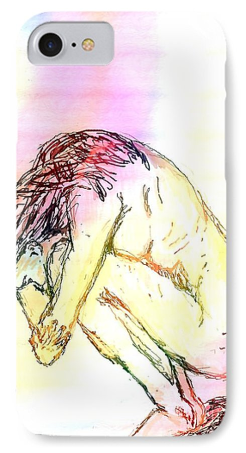 Lady IPhone 7 Case featuring the digital art Waiting For The Wounds To Heal by Shelley Jones