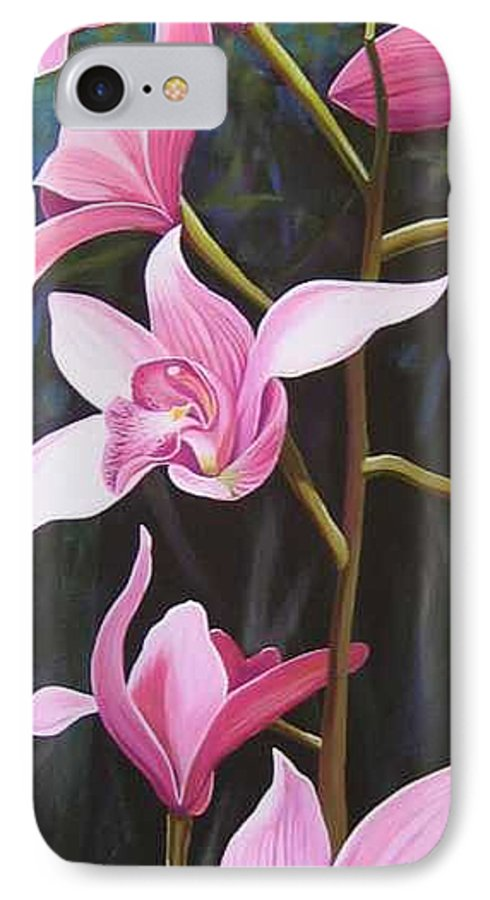 Orchids In Italy IPhone 7 Case featuring the painting Waking Up In The Sun by Hunter Jay